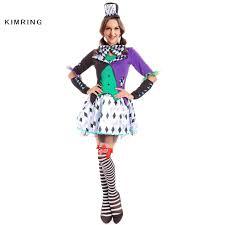 female mad hatter halloween costume aliexpress com buy kimring mad hatter halloween costume in