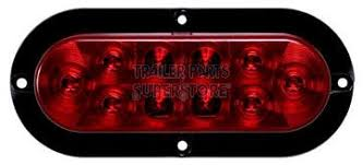 Optronics Led Trailer Lights Led 6 In Oval Flanged Red Vehicle Trailer Tail Light Stl 78rb