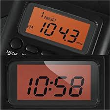 Bathroom Radio Clock Amazon Com Horologe Am Fm Pocket Radio Portable Alarm Clock