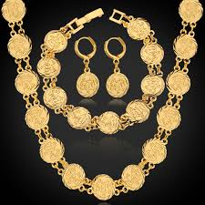 bracelet earring jewelry necklace images Hot dubai gold color jewelry sets necklace bracelet earrings for jpg