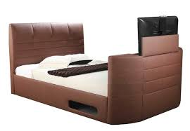 chocolate brown miami double ottoman storage tv bed tv bed store