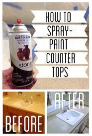 how to spray paint countertops stone spray paint bathroom vanity