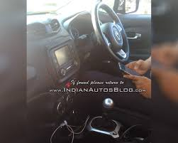 gray jeep renegade interior rhd jeep renegade indian test vehicle interior spied