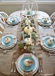 27 inspiring coastal thanksgiving table setting and centerpiece
