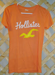 Light Orange Color by Orange T Shirt Hollister Junior Girls Size M Hollister