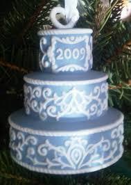 wedding cake into an ornament custom wedding cake ornament