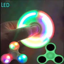 fidget spinner light up blue hand fidget spinner glow in the dark led lightning luminuex finger