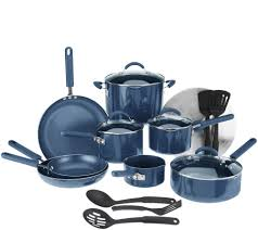 black friday deals on cookware set cooksessentials 18 piece porcelainenamel cookware set w