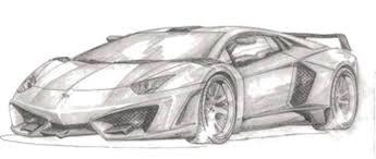 sketch of lamborghini gallardo lamborghini aventador program teased by fab design