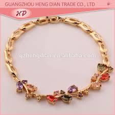 white gold plated charm bracelet images Fashion custom saudi new 18k white gold plated jewelry charm jpg
