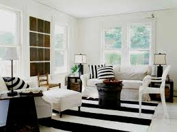 black and white striped rug kids transitional with animal head art