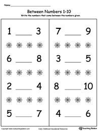 number in between 1 through 10 worksheet myteachingstation com
