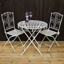 Folding Patio Bistro Set Metal Bistro Set Ebay