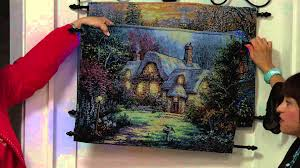 26 x 18 fiber optic sided tapestry with metal hanger with