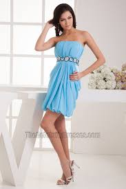 sheath column blue chiffon cocktail holiday party dresses
