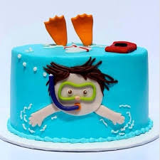 party cake pool party cakes popsugar