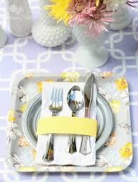 Baby Shower Table Setup by Purple Yellow U0026 Gray Baby Shower Parties For Pennies