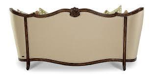 wood trim sofa aico lavelle melange wood trim tufted sofa group 1 opt 1 54815
