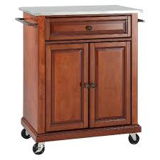 kitchen cart and island stainless steel top portable kitchen cart island crosley target