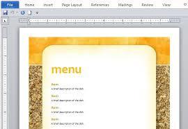 event menu template textured background menu template for