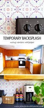 temporary kitchen backsplash diy temporary backsplash ikea frames and spoonflower