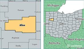 map of allen allen county ohio map of allen county oh where is allen county