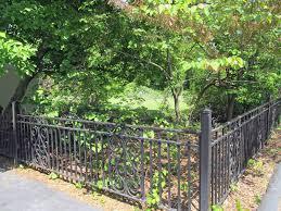 iron fence panels with stone pillars u2013 outdoor decorations