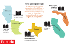 Most Beautiful Us States The Most Popular Book In Each Of The 50 States