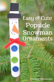 snowman ornaments for the to make these diy