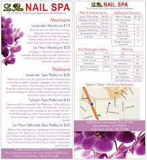 la fleur nail spa services la fleur nail spa