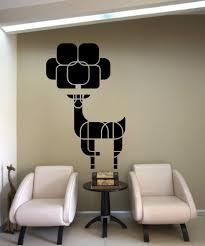 vinyl wall decal sticker geometric deer tree os mb1240