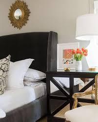 gold mirror over nightstand design ideas