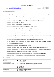 Salesforce Developer Resume Samples by Salesforce Developer Resume Virtren Com