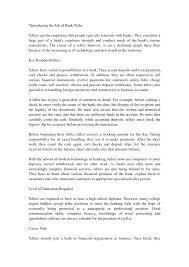 cover letter bank teller position oil worker cover letter
