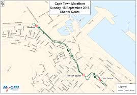 Modena Map by Road Closures U0026 Parking Sanlam Cape Town Marathon