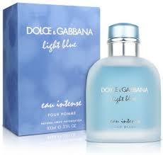 dolce gabbana light blue eau de parfum light blue eau intense pour homme by dolce gabbana for men eau
