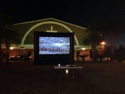 outdoor movie screen rentals backyard cinema rentals florida