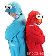 onesie cookie monster hoodie animal kigurumi costume pyjama