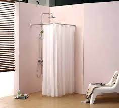 Small Shower Curtain Rod Small Shower Curtains Image Of Corner Shower Curtain Rod For Tub