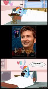 David Tennant Memes - 279337 book david tennant edit meme rainbow dash reading