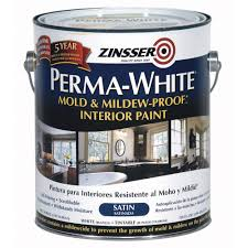 Interior Paint Home Depot Zinsser 1 Gal Perma White Mold And Mildew Proof Satin Interior
