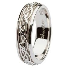celtic wedding knot ceremony silver celtic knot wedding ring