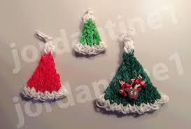 how to make a rainbow loom christmas santa hat charm part 1