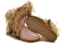 womens ugg boots fox fur ugg boots with laces ugg fox fur boots pink 5531 outlet uggs