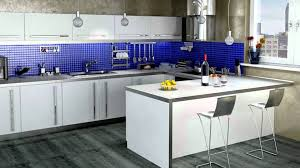 Blue Backsplash Kitchen Kitchen Charming Interior Design For Kitchen Blue Kitchen