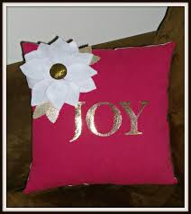deco pin up easy to make deco foil joy pillow therm o web