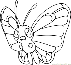 pokemon coloring pages totodile butterfree pokemon coloring page free pokémon coloring pages