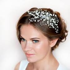 bridal hair clip imitation pearl bridal hair accessories bridal hair combs hairpin