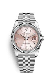 rolex bracelet white gold images Rolex datejust 36 watch white rolesor combination of png