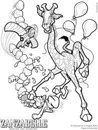 animal coloring pages giraffe coloring pages